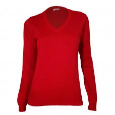 Escorpion-18W125311/Rubinröd V-ringad tröja