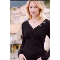 Fransa 20604582/svart tröja