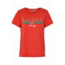 Fransa 20605113/röd T-shirt