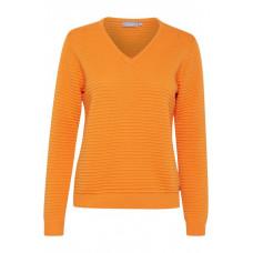 fransa 20605627/apelsin V-ringad jumper