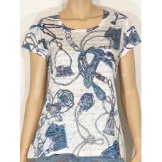 M.X.O 31281 t-shirt blå/vit