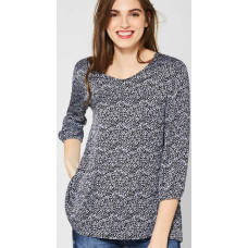 Street one printed V-neck blouse 341916