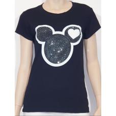 Train of trends/ T-shirt Musse pigg svart One size