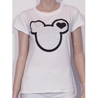 Train of trend T-shirt Musse pigg vit One size